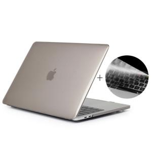 ENKAY Chapeau-Prince 2 en 1 cristal dur coque en plastique de protection + Europe Version Ultra-mince TPU couvercle de clavier de protection pour 2016 MacBook Pro 15,4 pouces avec barre tactile (A1707) (Gris) SE606H299-20