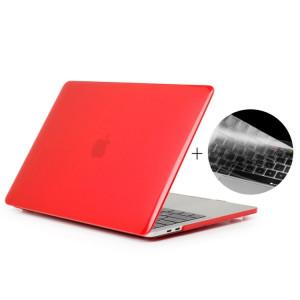 ENKAY Chapeau-Prince 2 en 1 cristal dur coque en plastique de protection + Europe Version Ultra-mince TPU clavier couvercle de protection pour 2016 MacBook Pro 15,4 pouces avec barre tactile (A1707) (rouge) SE606R1623-20