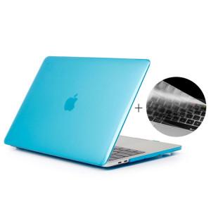 ENKAY Chapeau-Prince 2 en 1 cristal dur coque en plastique de protection + Europe Version Ultra-mince TPU couvercle de clavier de protection pour 2016 MacBook Pro 15,4 pouces avec barre tactile (A1707) (Bleu bébé) SE06TT1139-20