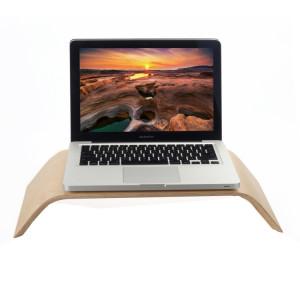 SamDi Artistique Bois Grain Blanc Bouleau Bureau Support Berceau pour Apple Macbook, ASUS, Lenovo SH006A698-20