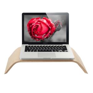 SamDi artistique Wood Grain bambou et support de bureau en bois support berceau pour Apple Macbook, ASUS, Lenovo SH006B140-20