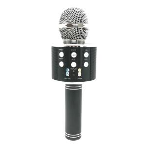 WS-858 Métal Haute Qualité Sonore KTV Karaoke D'enregistrement de poche Bluetooth Sans Fil Microphone, pour Ordinateur Portable, PC, Haut-Parleur, Casque, iPad, iPhone, Galaxy, Huawei, Xiaomi, LG, HTC et autres Smart SH698B574-20