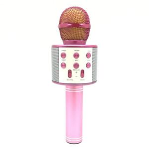 WS-858 Métal Haute Qualité Sonore Main KTV Karaoke Enregistrement Bluetooth Sans Fil Microphone, pour Ordinateur Portable, PC, Haut-Parleur, Casque, iPad, iPhone, Galaxy, Huawei, Xiaomi, LG, HTC et Autres Smart Phones SH698F974-20