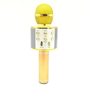 WS-858 Métal Haute Qualité Sonore Main KTV Karaoke Enregistrement Bluetooth Sans Fil Microphone, pour Ordinateur Portable, PC, Haut-Parleur, Casque, iPad, iPhone, Galaxy, Huawei, Xiaomi, LG, HTC et autres Smart Phones SH698J1562-20