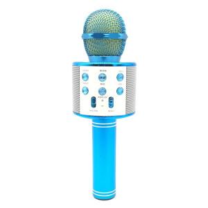 WS-858 Métal Haute Qualité Sonore KTV Karaoke Enregistrement Bluetooth Sans Fil Microphone, pour Ordinateur Portable, PC, Haut-Parleur, Casque, iPad, iPhone, Galaxy, Huawei, Xiaomi, LG, HTC et autres Smart Phones (Bleu) SH698L1125-20