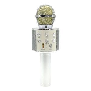 WS-858 Métal Haute Qualité Sonore Main KTV Karaoke Enregistrement Bluetooth Sans Fil Microphone, pour Ordinateur Portable, PC, Haut-Parleur, Casque, iPad, iPhone, Galaxy, Huawei, Xiaomi, LG, HTC et autres Smart Phones SH698S1757-20