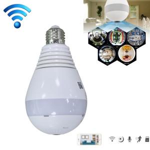 JJX-3603 E27 ampoule 360 degrés 1.3MP Smart Wireless Wifi IP caméra, carte de soutien TF (64 Go max), (s'il vous plaît noter la version: version lumière blanche / version nuit infrarouge) SH00561257-20