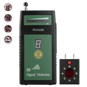 Suresafe SH-055U8LP Détecteur de caméra à détecteur de signal RF à seuil automatique avec 8 LED, fréquence de détection: 50 MHz-6,0 GHz, prise US / EU / UK, AC 100-240V SH11011305-20