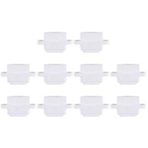 Connecteur de port de charge 10 PCS pour iPad mini / mini 2 / mini 3 (blanc) SH010W804-20