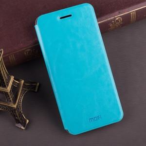 MOFI pour Huawei Maimang 6 étui en cuir de protection antichoc Flip horizontale avec texture (Crazy Horse) avec support (bleu) SM842L946-20