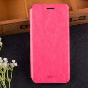 MOFI pour Huawei Maimang 6 étui en cuir de protection antichoc Flip horizontale avec texture (support) (magenta) SM842M1198-20