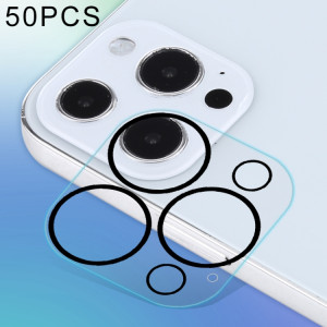 50 pcs HD Anti-éblouissement Caméra Arrière Protecteur Verre Trempé Film pour iPhone 13 Pro SH7685161-20