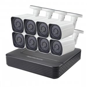 Kit Caméra NVR Caméra IP Bullet Mega Pixel COTIER A8B6 8Ch 1080P, Vision Nocturne / Détection de Mouvement, Distance IR: 15m SC080C540-20