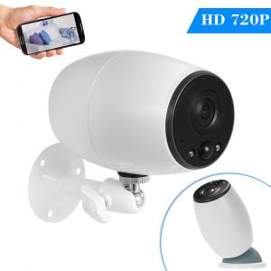 VESAFE VS-DC01 Sécurité HD 720P deux voies audio sans fil Wifi caméra IP, vision nocturne de soutien et détection PIR et carte TF, IP54 étanche (blanc) SH093W88-20