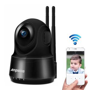Anpwoo Guardian Caméra IP CMOS HD WiFi 2.0MP 1080P 1/3 pouce, Détection de mouvement / Vision nocturne (Noir) SA103B1393-20