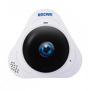 ESCAM Q8 960P 360 degrés Fisheye objectif 1.3MP WiFi IP Camera, détection de mouvement de soutien / vision nocturne, Distance IR: 5-10m (blanc) SE340W833-20