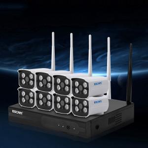 ESCAM WNK803 8CH 720P 1/4 pouce CMOS 1.0 Mega Pixel WiFi Bullet IP Caméra NVR Kits, Vision nocturne / Détection de mouvement de soutien SE4007253-20