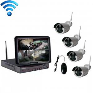 K9104E-PE2013C 4CH HD 960P 1,3 Méga Pixel 2.4 GHz WiFi IP Bullet Caméra Kit 10,1 pouces LCD NVR SH5693371-20