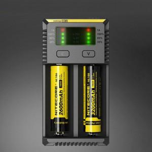 NOUVEAU Chargeur Digi Smart i2 Intelligent Nitecore avec indicateur DEL pour piles 14500, 16340 (RCR123), 18650, 22650, 26650, Ni-MH et Ni-Cd (AA, AAA) SH4073106-20