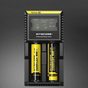 Chargeur Nitecore D2 Intelligent Digi Smart avec indicateur DEL pour piles 14500, 16340 (RCR123), 18650, 22650, 26650, Ni-MH et Ni-Cd (AA, AAA) SH40741608-20