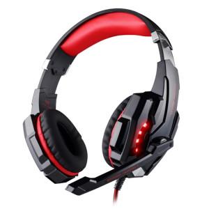 KOTION EACH G9000 3.5mm Jeu Casque Casque Ecouteurs avec Microphone LED Lumière pour Ordinateur Portable / Tablette / Téléphones Portables, Longueur de Câble: Environ 2.2m (Rouge + Noir) SK113R1622-20