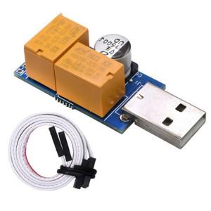 USB Watchdog Card Double Relay Automatique Redémarrage Automatique Blue Crash Timer Redémarrage Pour Jeu De Serveur Minier 24H SU0174704-20