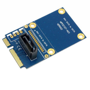 MINI SATA à 7 broches SATA Mini PCI-E Disque dur Carte d'extension Carte d'extension (Bleu) SM189L1223-20