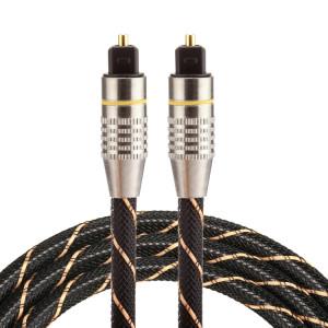 1m OD6.0mm plaqué or tête métallique tissé Net Line Toslink mâle vers mâle numérique câble audio optique SH0383613-20