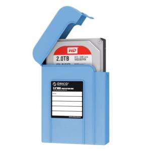 ORICO PHI-35 3.5 pouces SATA HDD Case disque dur disque protéger la boîte de couverture (bleu) SO539L1407-20