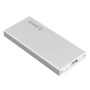 ORICO MSA-UC3 USB 3.1 Type C En Aluminium De Stockage Externe Boîtier Disque Dur Boîte pour 50mm x 30mm M-SATA SSD (Argent) SO549S1832-20