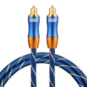 EMK LSYJ-A010 Câble audio Toslink mâle / mâle à tête en métal plaqué or de 1m OD6.0mm SH0741475-20