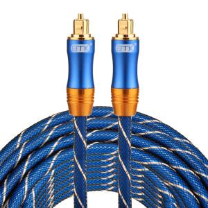 EMK LSYJ-A Câble audio numérique Toslink mâle-mâle à tête en métal plaqué or 10 m OD6.0mm SH0747844-20