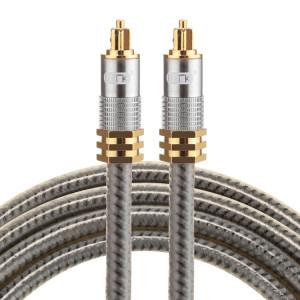 EMK YL-A 1.5m OD8.0mm Câble audio numérique Toslink mâle / mâle à tête en métal plaqué or SH07721008-20