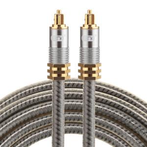 EMK YL-A 2m OD8.0mm Câble audio numérique Toslink mâle / mâle à tête en métal plaqué or SH07731869-20