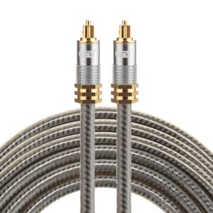 EMK YL-A 3m OD8.0mm Câble audio numérique Toslink mâle / mâle à tête en métal plaqué or SH07741935-20