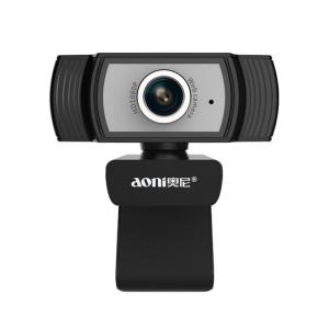 Aoni C33 Beauty FHD 1080P IPTV WebCam Teleconference Enseignement Caméra de diffusion en direct avec microphone, Plug-and-Play sans lecteur (Noir) SH919B1199-20