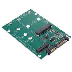 M.2 NGFF & mSATA SSD à SATA III 7 + 15 broches Adaptateur Convertisseur SM11181355-20