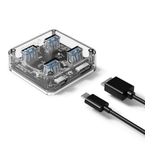 ORICO MH4U-100 USB 3.0 bureau transparent avec câble micro USB de 100 cm SO1222688-20