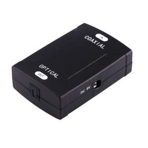 Entrée RCA coaxiale à adaptateur de convertisseur audio numérique de sortie Toslink optique (noir) SC051B675-20