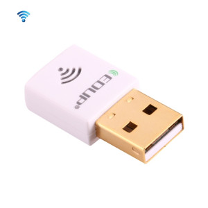 EDUP EP-AC1619 Mini USB sans fil 600Mbps 2.4G / 5.8Ghz 150M + 433M double carte réseau WiFi WiFi pour Nootbook / ordinateur portable / PC (blanc) SE312W838-20