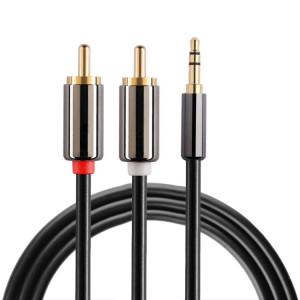 1m Jack plaqué or 3,5 mm à 2 x câble audio stéréo RCA mâle S1247227-20