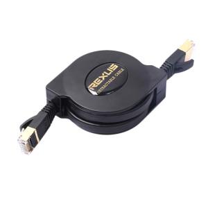 1.5m CAT7 10 Gigabit Rétractable Flat Ethernet RJ45 Réseau LAN Câble (Noir) S1474B1712-20