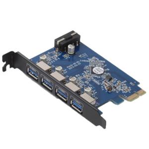 ORICO PVU3-4P 4 Ports USB3.0 PCI Express Carte pour le Bureau (Noir) SO021B1801-20