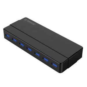 ORICO H7928-U3 ABS Matériel Bureau 7 Ports USB 3.0 HUB avec 1 m de Câble (Noir) SO025B1129-20