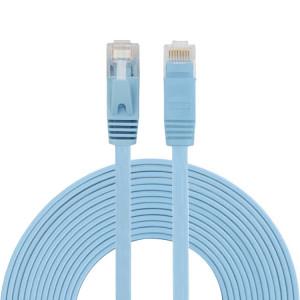 Câble réseau LAN plat Ethernet ultra-plat CAT6 5m, cordon RJ45 (bleu) S5465L796-20