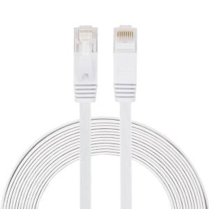 Câble réseau LAN plat Ethernet ultra-plat CAT6 5m, cordon RJ45 (blanc) S5465W442-20