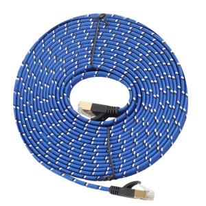 10m câble plaqué or 10m CAT-7 Ethernet Gigabit ultraplat Patch pour le réseau LAN de modem routeur, construit avec connecteur RJ45 blindé S13645820-20