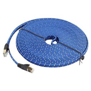 Câble de correction plat ultra-plat d'Ethernet plaqué or de 10 m de CAT-7 10 Gigabit pour le réseau LAN de routeur de modem, construit avec le connecteur RJ45 blindé S136461297-20