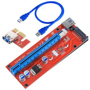 USB 3.0 PCI-E Express 1x à 16x Adaptateur de carte de prolongateur PCI-E 15 broches SATA avec câble USB SU3742142-20