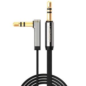Ugreen 3.5mm Mâle à 3.5mm Mâle Elbow Connecteur Audio Câble d'Adaptateur Or Portée AUX Voiture Audio Câble, Longueur: 0.5m SU48101030-20